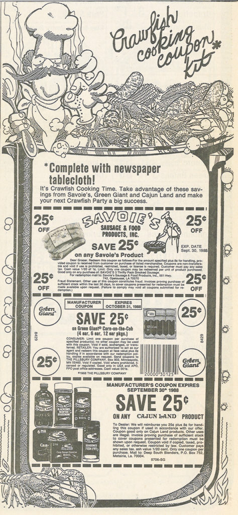 April 1988 Newspaper Coupons from the New Orleans Times Picayune